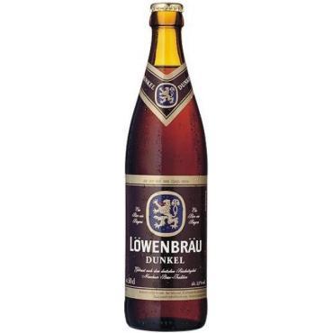 Пиво темное пастеризованное крепость 4,7% Löwenbraü Dunkel, 500 мл., стекло