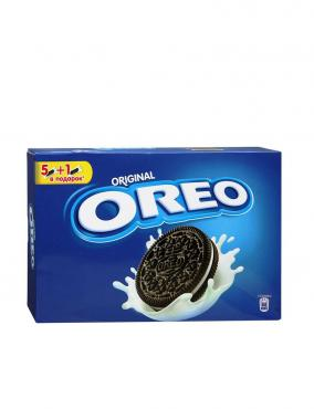 Печенье с какао и кремовой начинкой ванильного вкуса Oreo, 228 гр., картонная коробка