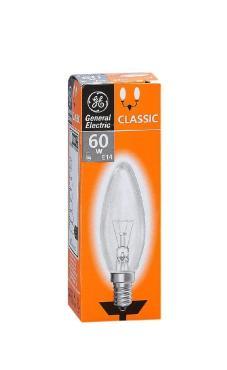 Лампа накаливания СТАРТ General Electric свеча C1/F 60W 230V E14