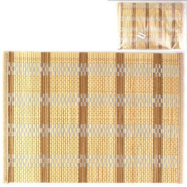 Коврики сервировочные бамбуковые кухонные, набор 6 шт., 35 х 25 см., 446 гр., пластиковый пакет