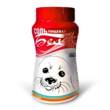 Соль выварочная йодированная Белёк 600 гр., Пластиковая банка