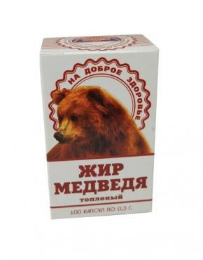 Жир медведя 100 капсул по 0,3 гр., 300 гр., ПЭТ