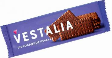 Vestalia печенье шоколадное 250гр 1/8