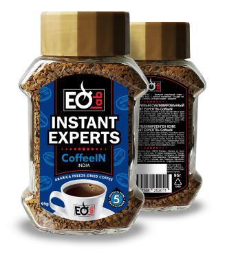 Кофе Instant Experts, растворимый крист. CoffeeIN INDIA ст/б 95гр