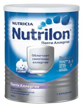 Смесь Nutrilon Пепти Аллергия для детей с рождения
