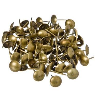 Гвозди мебельные усиленные 100гр, 167шт, бронза