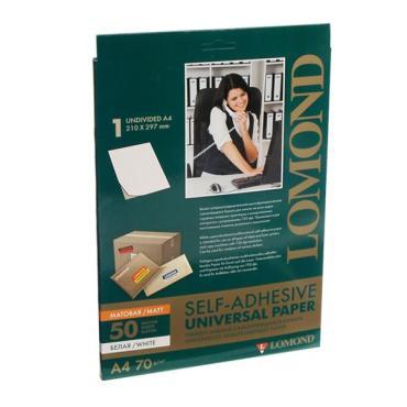 Бумага Lomond самоклеющаяся А4