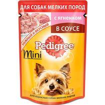 Корм влажный для собак с ягненком в соусе Pedigree 85 гр. Дой-пак