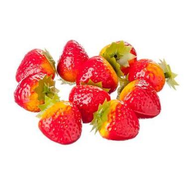 Муляж фруктов клубника, 10 ягод, пластик матовый, цвет микс, Luazon Клубника, пластиковый пакет