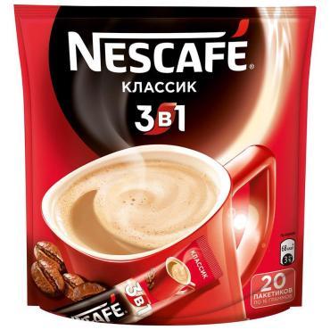 Кофе Nescafe 3в1 Классик 20 пак