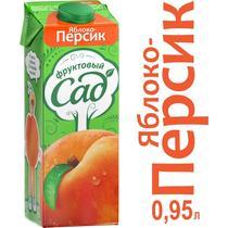 Нектар Фруктовый Сад персик-яблоко с мякотью