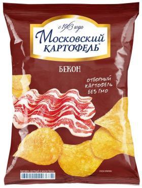 Чипсы Бекон, Московский картофель, 70 гр, флоу-пак