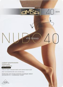 Колготки 40 den diano 3M Omsa Nudo Vita Bassa, пластиковый пакет