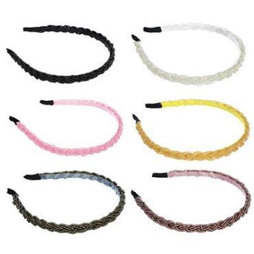 Ободок для волос 0,7 см. из пластика и металла 6 цветов Бисерное плетение