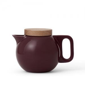 Чайник заварочный с ситечком 650 мл., цвет бордовый, фарфор Viva Scandinavia Jaimi, 400 гр., картонная коробка