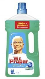 Моющее средство Mr.Proper Горный ручей и прохлада для полов и стен 1л