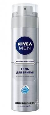 Гель для бритья Nivea Men антибактериальный серебряная защита