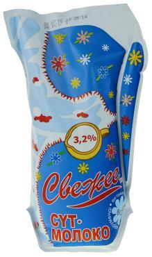 Молоко 3,2%,  Северное Сияние, 900 мл., пакет