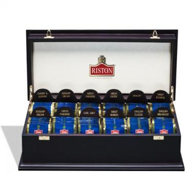 Набор чая подарочный Riston Шкатулка деревянная 12 видов чая