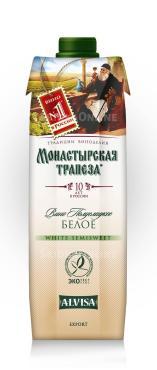 Вино Монастырская Трапеза столовое сухое белое