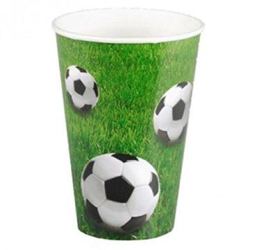 Одноразовые стаканы Papstar Football картонные 200мл. 10шт.