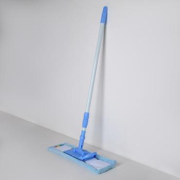 Швабра Доляна плоская телескопическая стальная ручка