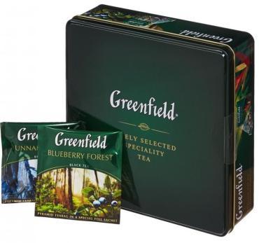Набор чая Greenfield пирамидки 4 сорта