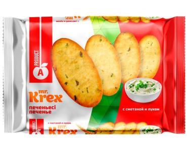 Печенье Mst KREX cо сметаной и луком, А-продукт, 300 гр., ПЭТ