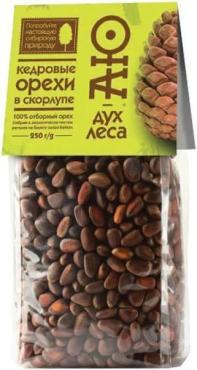 Кедровый орех в скорлупе АЮ-дух леса, 250 гр., пластиковый пакет