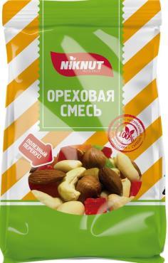 Ореховая смесь сушеная Nikbionut, 130 гр., флоу-пак