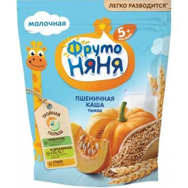 Каша ФрутоНяня Пшеничная с тыквой молочная с 5 месяцев