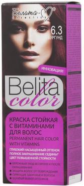 Краска для волос Белита-М Belita Color, стойкая, с витаминами, № 6.3 Бургунд