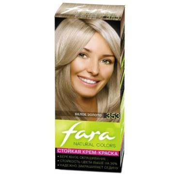 Краска для волос 353 Белое золото, Fara Color Naturals, 45 мл., картонная коробка