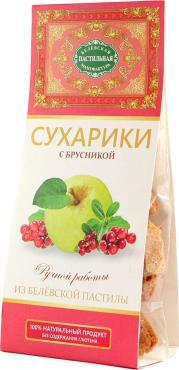 Сухарики из Белевской пастилы с брусникой, Белёвская Пастила, 55 гр, картон