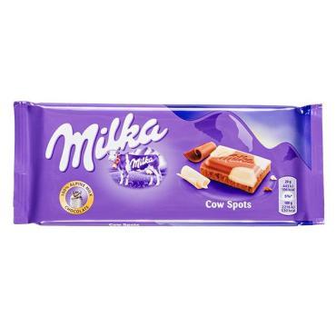 Шоколад Milka Cow Spots молочный с белым