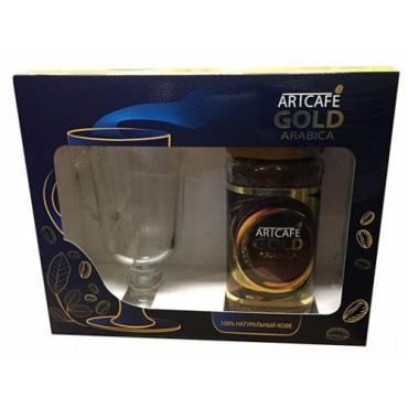 Кофе Artcafe Gold с бокалом подарочный