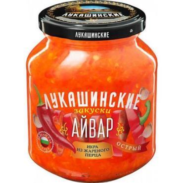 Айвар Острый Лукашинские, 350 гр., стекло