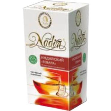 Чай Nadin Индийский Тевара черный 25 пакетиков, 50 гр., картон