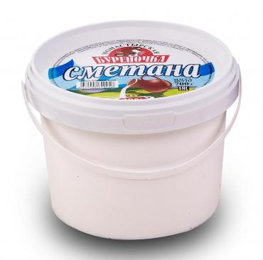 Сметана 20% Монастырская буреночка, 700 гр., пластиковое ведро