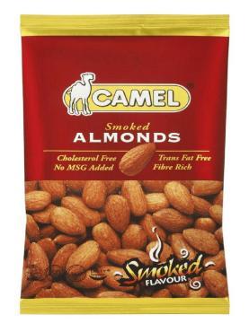 Миндаль жареный  со вкусом копчения Smoked Almonds, Camel, 40 гр., флоу-пак