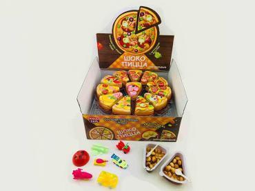 Шоколадная паста с печеньем и игрушкой Шоко Пицца, 12 гр., пластиковая упаковка