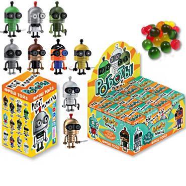 Мармелад жевательный с игрушкой Конфитрейд Роботы, 20 гр., картонная коробка
