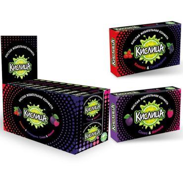 Кислая жевательная конфета Кислица, 18 гр., картонная пачка