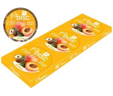 Снэк Абрикос с фундуком пенал Fit Disc, 3 шт., 75 гр., картонная коробка