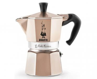 Гейзерная кофеварка розовое золото 3 чашек, Bialetti Moka Express, 500 гр., картонная коробка