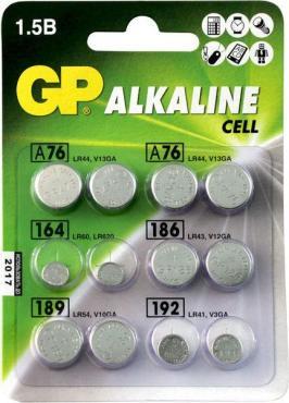 Батарейки алкалиновые GP ACM01-CR12, 12 шт., блистер