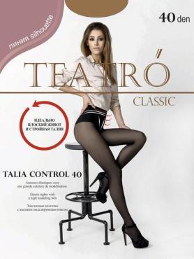 Колготки женские, цвет Daino светло-коричневый, размер 5, 40 den, Teatro Talia Control 40, 95 гр., пластиковый пакет