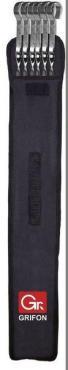 Шампуры плоские в чехле 45 см., 6 штук, Grifon, 440 гр.