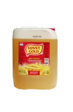 Подсолнечное масло для фритюра Sunny Gold, 10 л., канистра