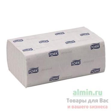 Полотенца бумажные Система H2 2-х слойные 21х34 см. 136 шт., Tork Advanced, 9.408 кг., бумажная упаковка